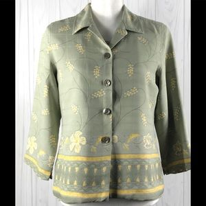 Tommy Bahama Set Blouse & Blazer Sz.(6) 100% Silk